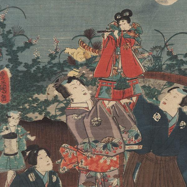Puppet Performance, 1857 by Toyokuni III/Kunisada (1786 - 1864)