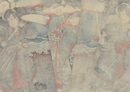 Priest Threatening a Beauty, 1847 - 1852 by Toyokuni III/Kunisada (1786 - 1864)