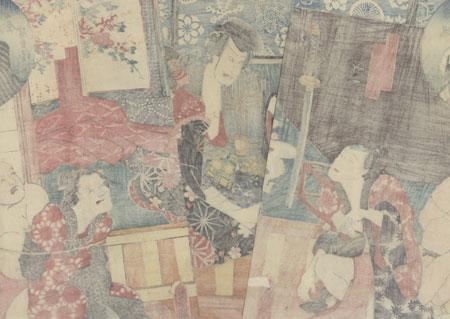 Bound Captives, 1852 by Toyokuni III/Kunisada (1786 - 1864)