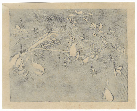 Tree Covered with Fruit by Shin-hanga & Modern artist (unsigned)