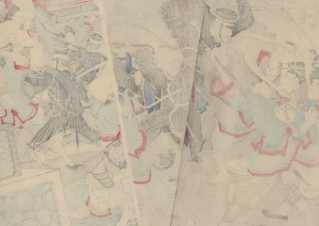 The Second Army Fights a Great Battle at Jinzhou, 1894 by Nakamura Shuko (active circa 1890s)