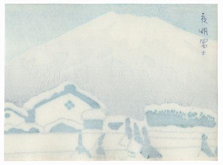 Mt. Fuji in Winter by Shin-hanga & Modern artist (unsigned)