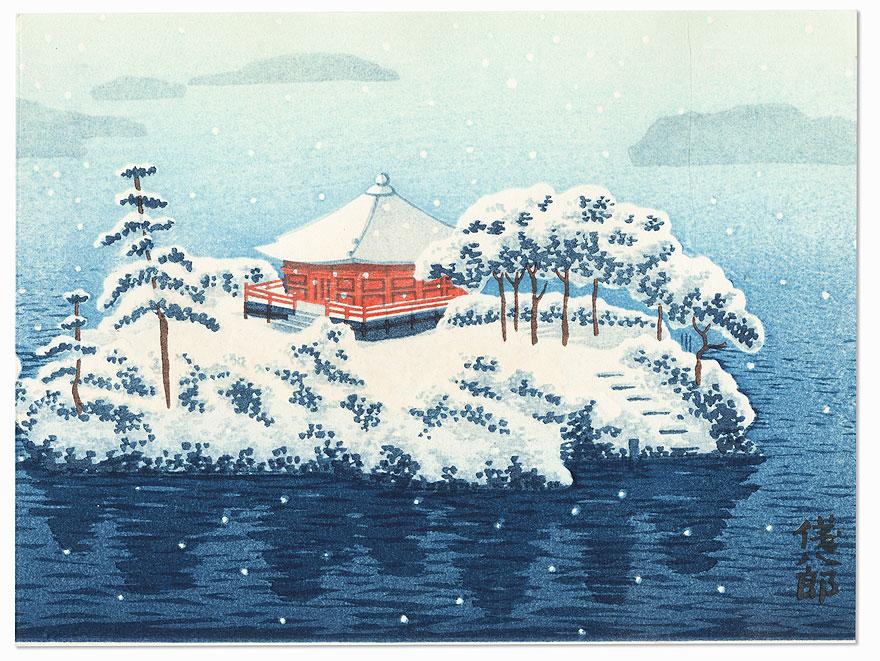 Shrine in Winter by Gihachiro Okuyama (1907 - 1981)