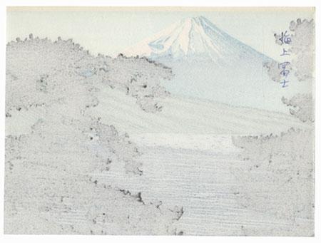 Mt. Fuji and Pines by Shin-hanga & Modern artist (unsigned)