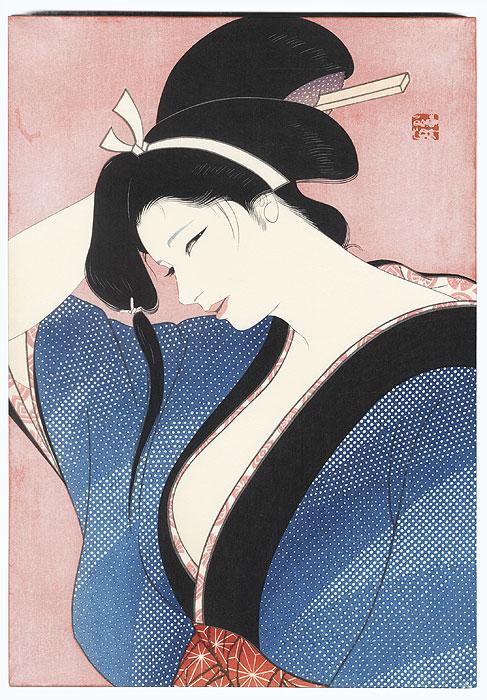 Spring Evening by Iwata Sentaro (1901 - 1974)