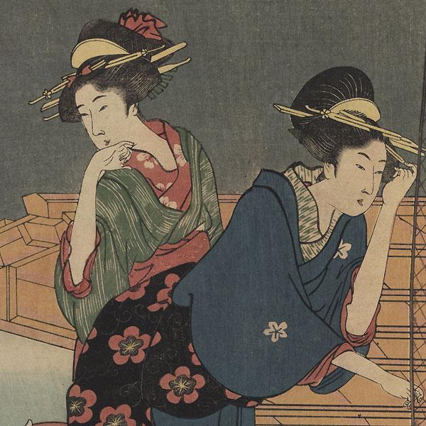 Pleasure Boat Ride by Utamaro (1750 - 1806)