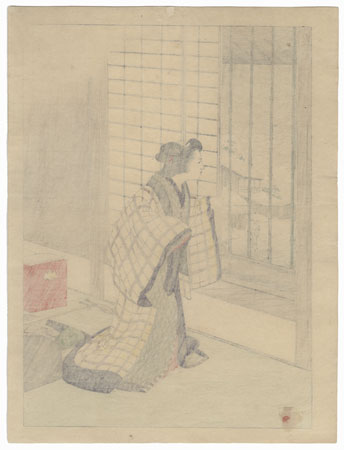 December: Shamisen Player by Meiji era artist (not read)