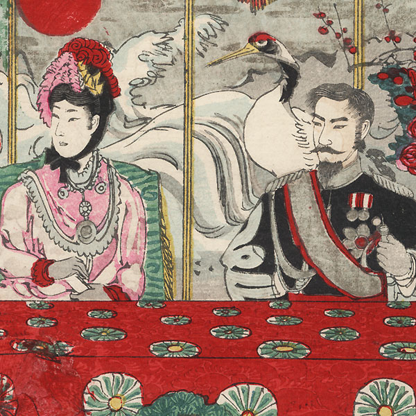 Ceremony on the Occasion of the Meiji Emperor's Silver Wedding Anniversary, 1894 by Nobukazu (1874 - 1944)