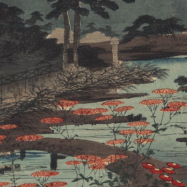 Full Moon over a Garden, 1887 by Chikanobu (1838 - 1912)