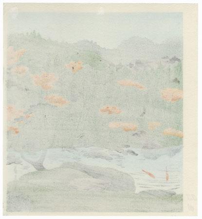 Garden with Koi Pond by Tokuriki (1902 - 1999)