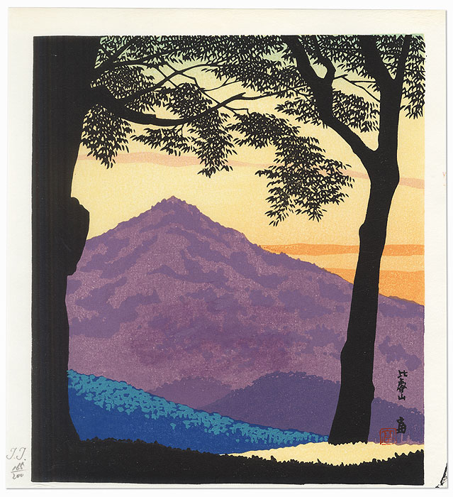 Mt. Hiei by Tokuriki (1902 - 1999)