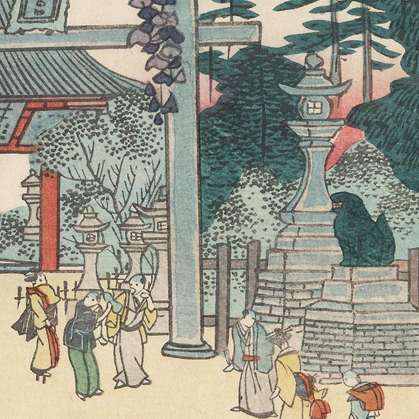 Yasui Konpiragu Shrine by Yoshitoyo (1830 - 1866)