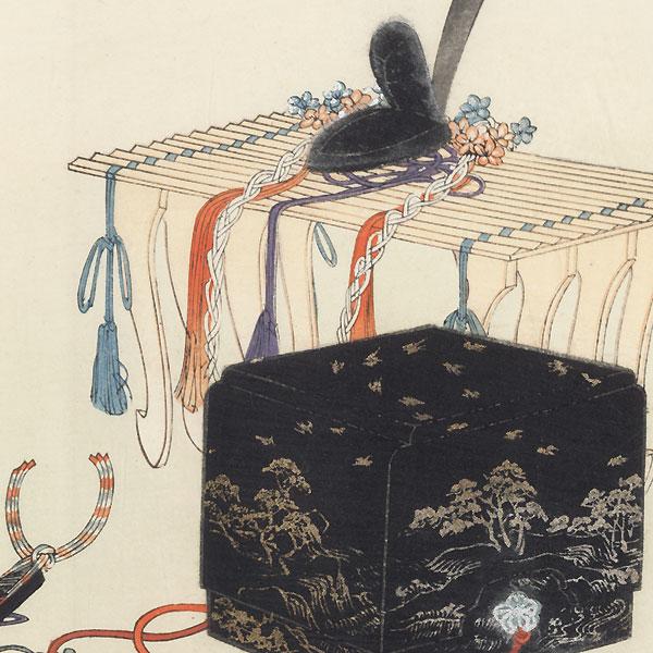 Supplement (Noh Hats) by Tsukioka Kogyo (1869 - 1927)
