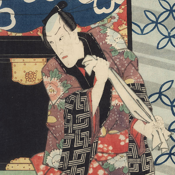 The Courtesan Urazato and Tokijiro, 1851 by Toyokuni III/Kunisada (1786 - 1864)