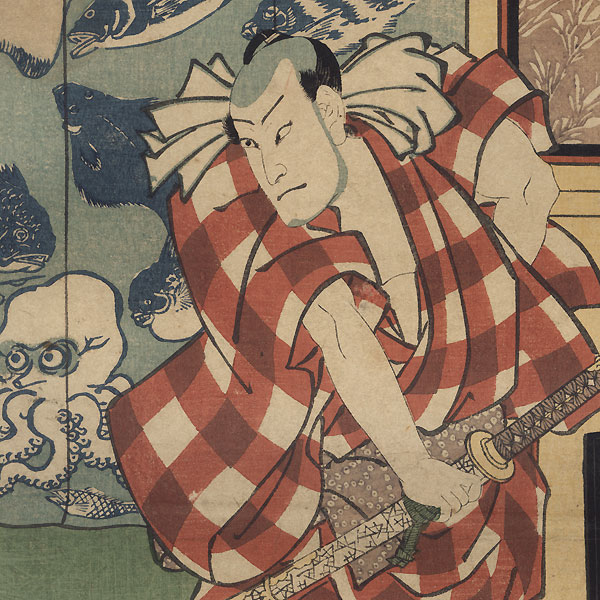 Nakamura Fukusuke as Kurobei Danshichi, 1858 by Toyokuni III/Kunisada (1786 - 1864)