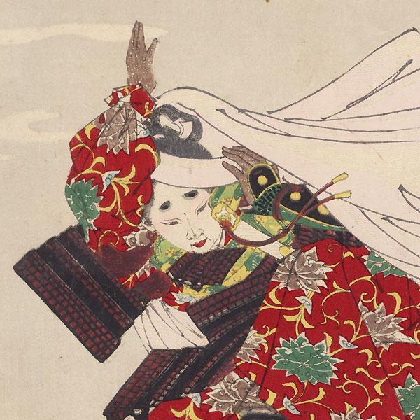 Gojo Bridge Moon  by Yoshitoshi (1839 - 1892)