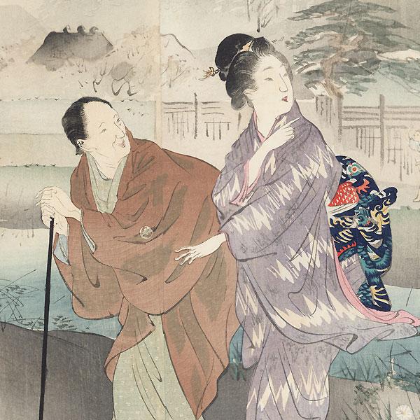 The Basho Pavilion at Sekiguchi by Gekko (1859 - 1920)