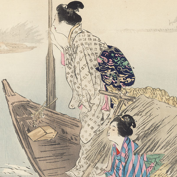 Fishing for Carp on the Tone River by Gekko (1859 - 1920)