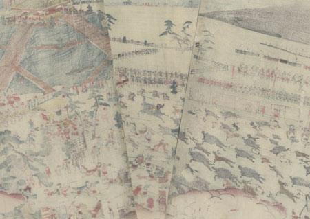 The Hunt at the Foot of Mt. Fuji, 1848 by Sadahide (1807 - 1873)