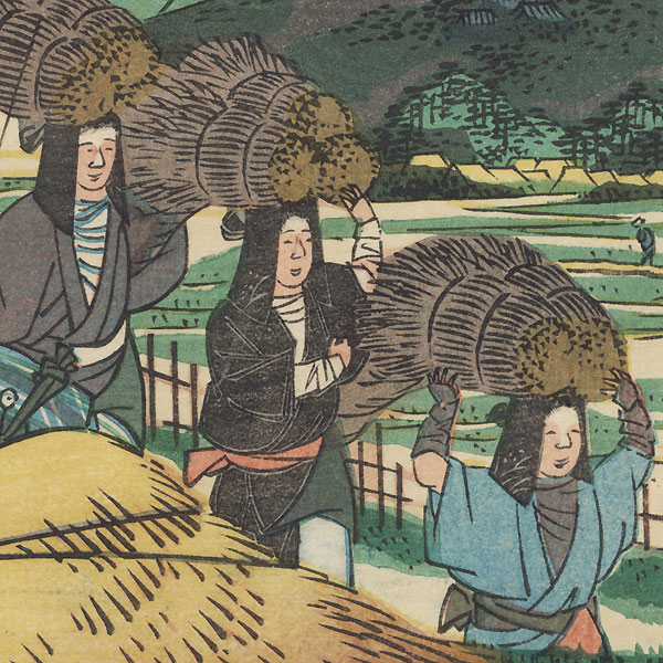 Matsugasaki by Umekawa Tokyo (active circa mid-1850s - early 1860s)