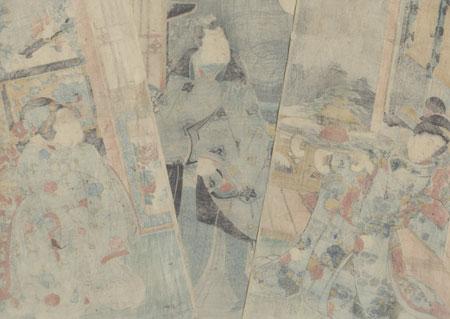 Moon, 1849 by Kuniteru (1808 - 1876)