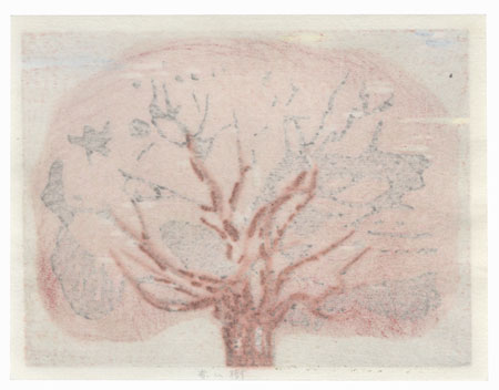 Untitled (Red Tree) by Joichi Hoshi (1913 - 1979)