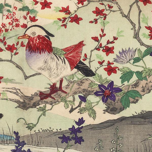 Mandarin Ducks by Rinsai (1847 - ?)