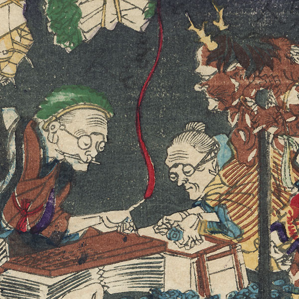 Demon and Accountants by Kyosai (1831 - 1889)