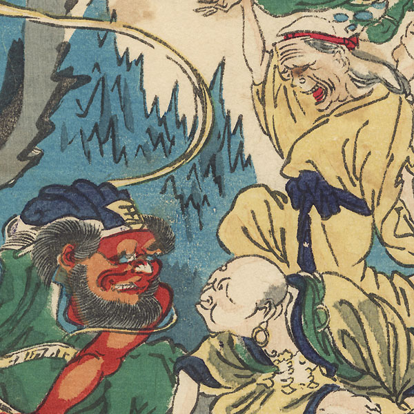 Holiday in Hell by Kyosai (1831 - 1889)