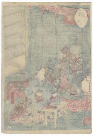 Sakaki, Chapter 10 by Kunisada II (1823 - 1880)