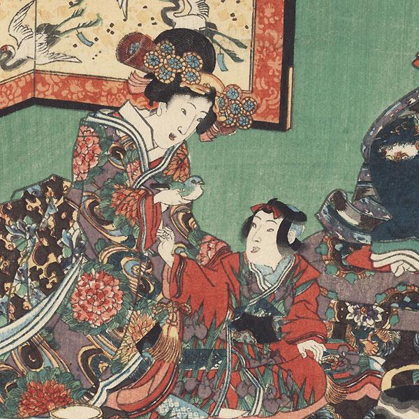 Hatsune, Chapter 23 by Toyokuni III/Kunisada (1786 - 1864)