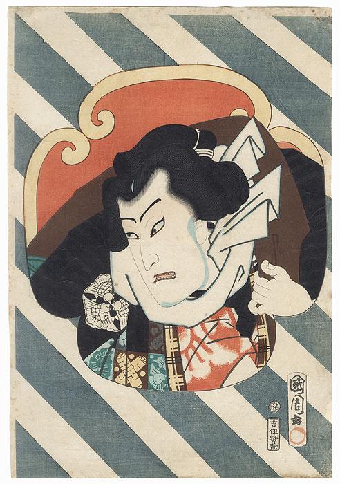 Nakamura Shikan as Nuregami Chogoro, 1864 by Kunichika (1835 - 1900)