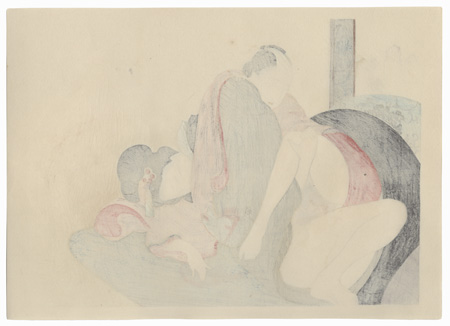 Series; Poetic Intercourse by Tomioka Eisen (1864 - 1905)