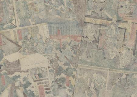 Twelve Scenes from the Tale of Asakura Togo, 1856 by Yoshiiku (1833 - 1904)