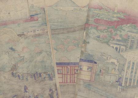 View of Ueno-Nakasendo Railway from Ueno Station, Tokyo, 1885 by Nogawa Tsumekichi