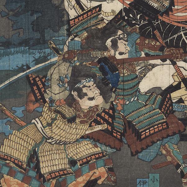 Great Battle from the Taiheiki, 1860 by Kunichika (1835 - 1900)
