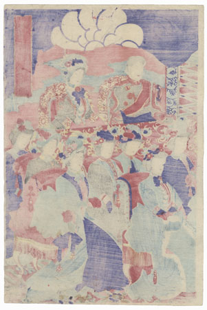 Nobles at the Theater, 1887 by Chikanobu (1838 - 1912)