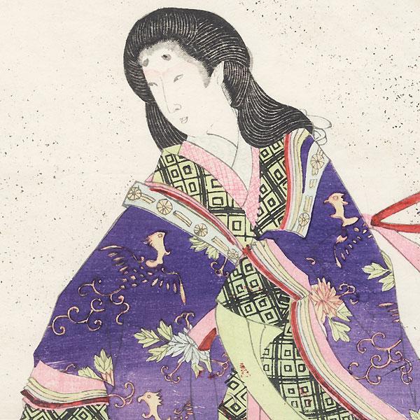 Beauty in Heian Era Dress by Meiji era artist (unsigned)