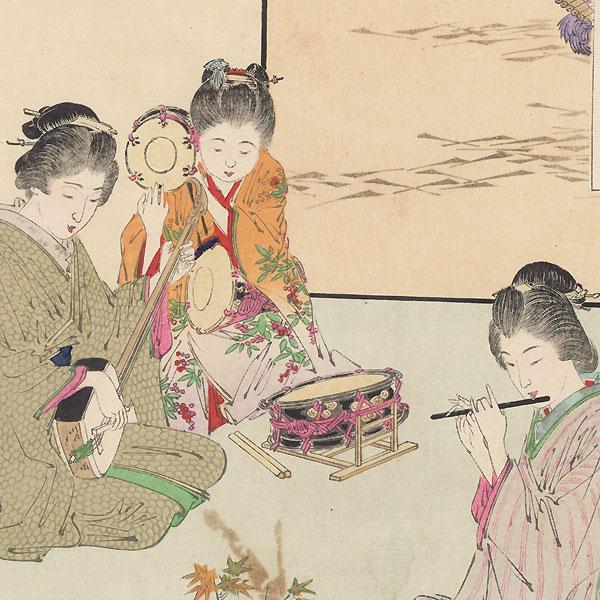 Playing Music by Gekko (1859 - 1920)