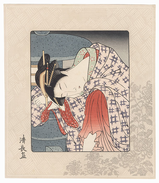 Pillow Print by Kiyonaga (1752 - 1815)