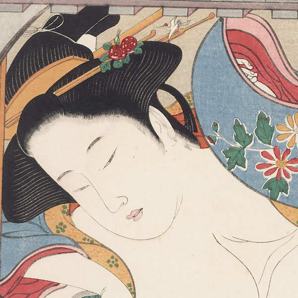 Pillow Print by Shunsho (1726 - 1792)