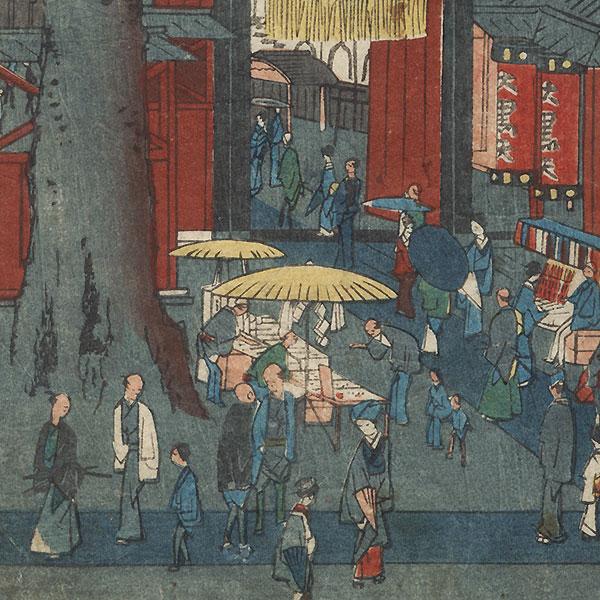 Denzu Temple by Hiroshige II (1826 - 1869)