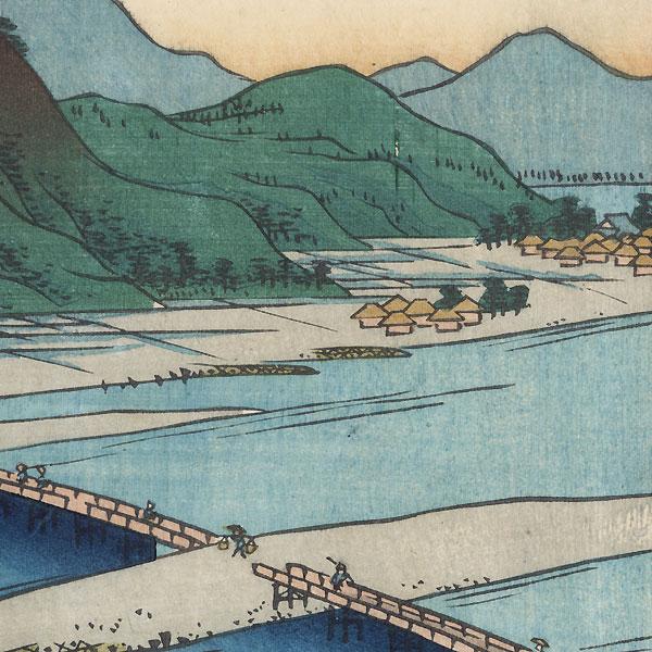 Kuze Bridge, Muku Shrine by Gyokuen (active circa 1851 - 1875)