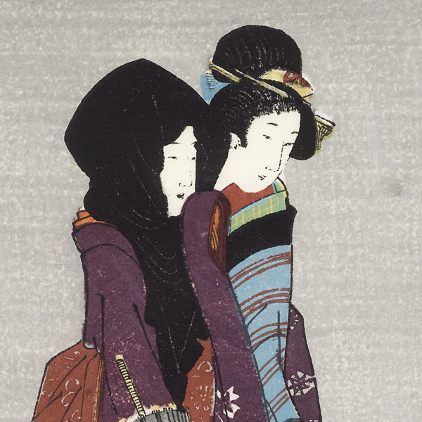 Beauties on an Evening Stroll by Shin-hanga & Modern artist (unsigned)