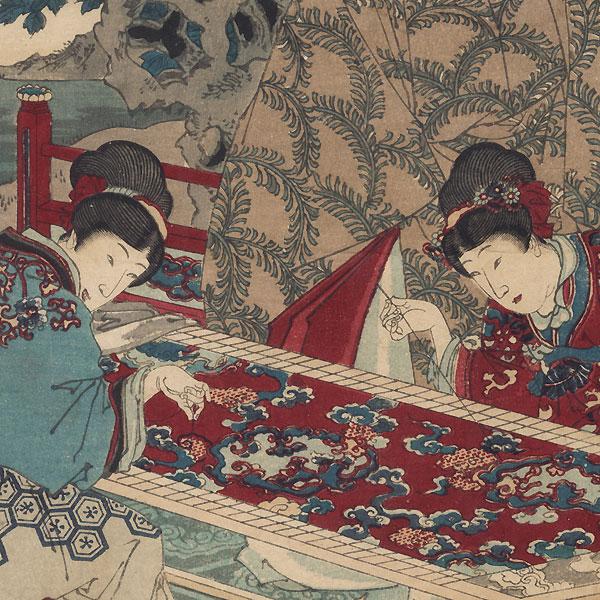 Imperial Minister Kibi, No. 38 by Chikanobu (1838 - 1912)