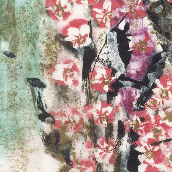 Waterfall Cherry Tree (Takizakura) by Munakata (1903 - 1975)
