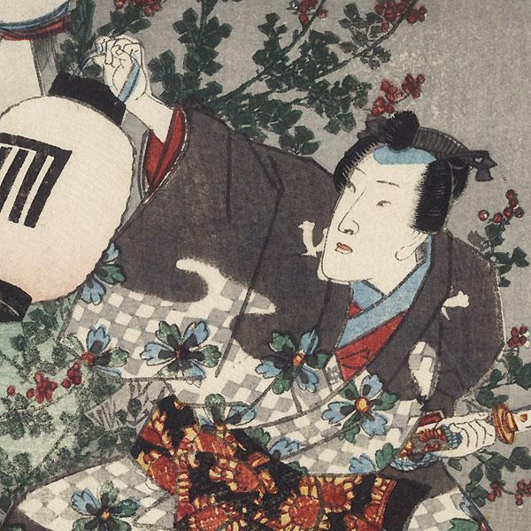 Yokobue, Chapter 37, 1854 by Toyokuni III/Kunisada (1786 - 1864)