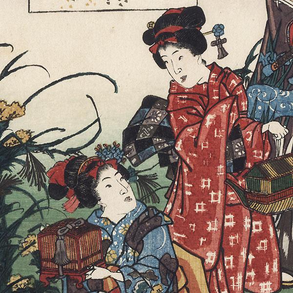 Suzumushi, Chapter 38, 1852 by Toyokuni III/Kunisada (1786 - 1864)