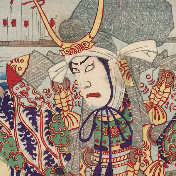 Taira no Tomomori and the Child Emperor, 1888 by Chikanobu (1838 - 1912)