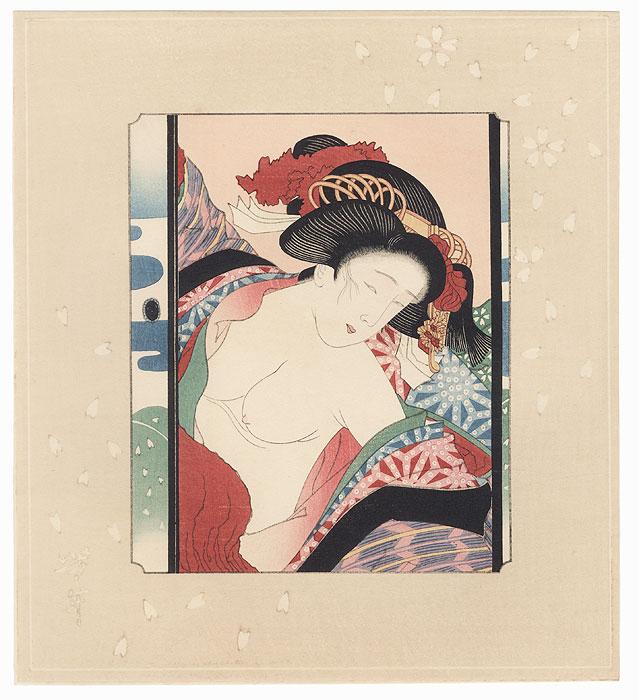 Pillow Print by Yoshitoshi (1839 - 1892)